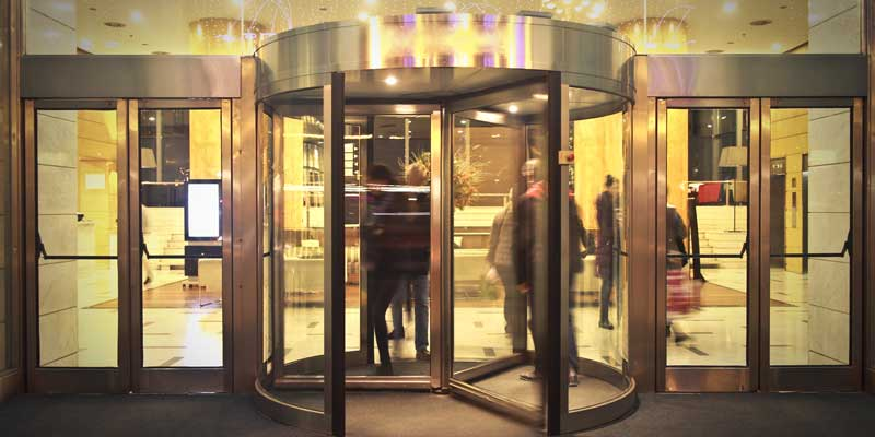 The Higher the Usage Rate of Revolving Doors, the More Energy Efficient they Become
