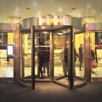 revolving door installation