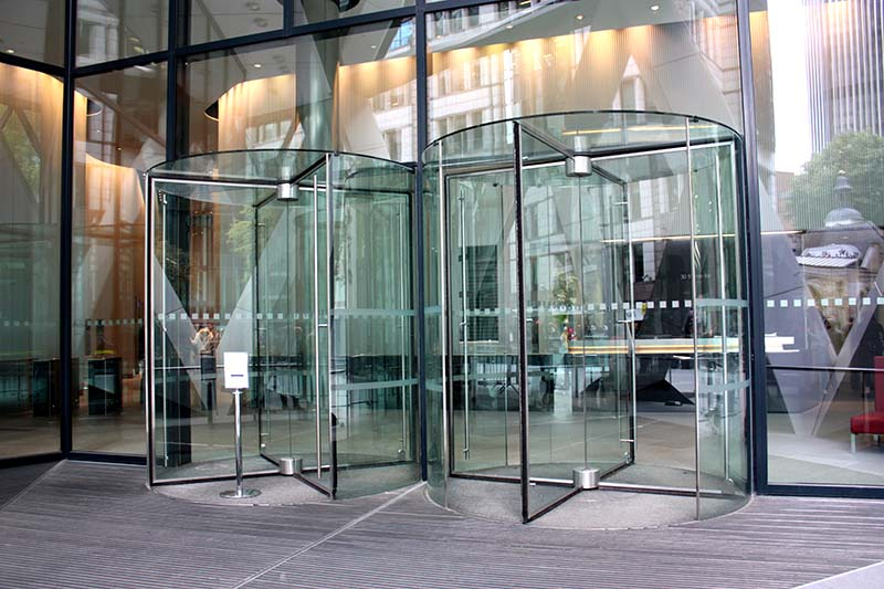 Enjoy of Modern and Elegant Business Revolving Doors