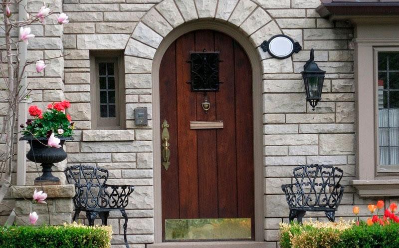 Красивые Деревянные Двойные Двери - Чикагские Дверные Люди