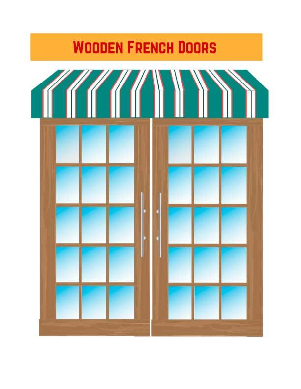 Wooden French Doors as Exterior Doors