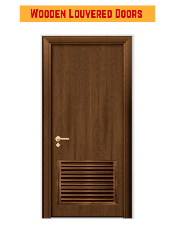 Wooden Louvered Doors for Restrooms